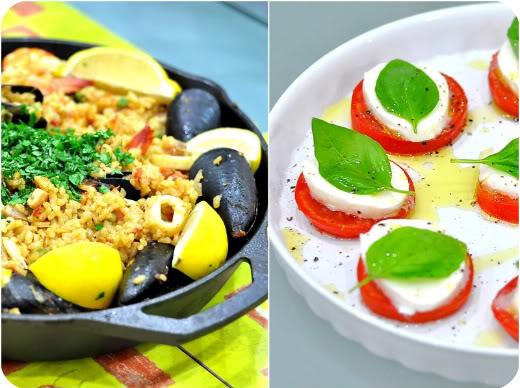 Seafood Paella, et al.