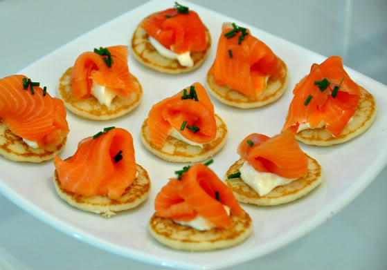 Smoked Trout on Blinis