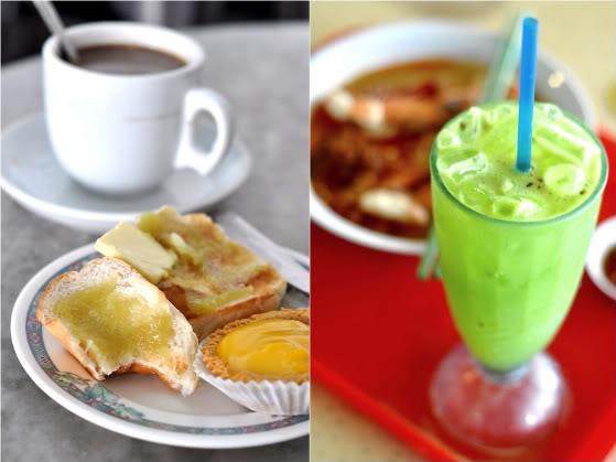 Old World Coffee, Prawn Noodles & Kedongdong Juice